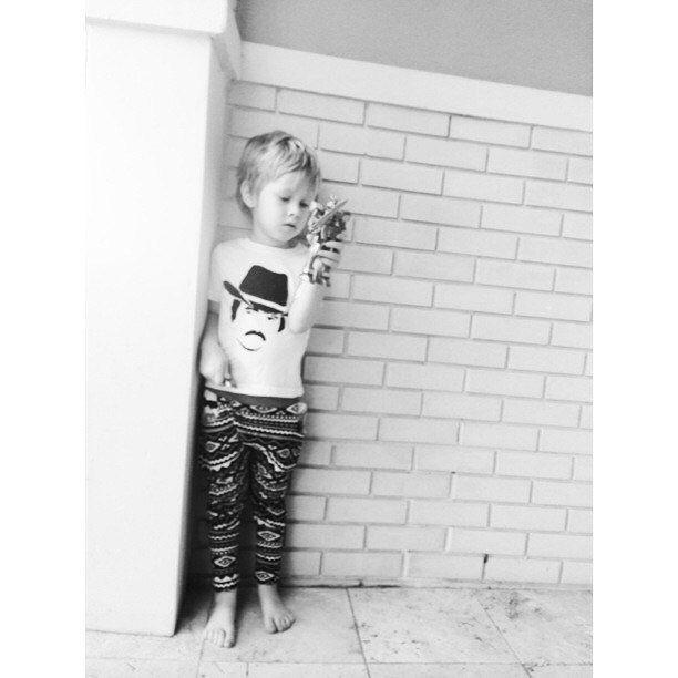 Burt Reynolds Baby Kids Hand Painted Shirt