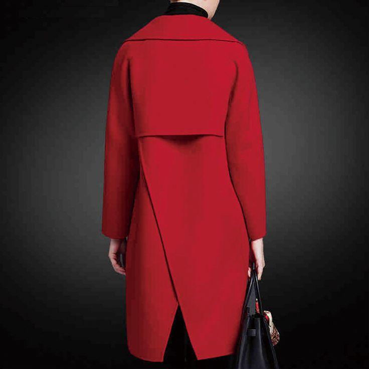 Купить товарКутюр шерстяные куртки женщин плюс размер ручной Покрыты…