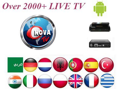1Month Nova TV Arabic IPTV subscription+Android IPTV Italy Portugal UK Germany France Belgium smart tv Support 2000+Channels #Affiliate