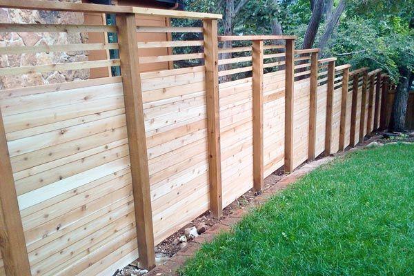 15 best Fence on a slope images on Pinterest | Back garden ...