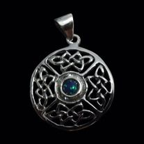 * Solid Sterling Silver 92.5% (Stamped) * Excellent Finishing * Free Shipping * Guaranteed for Life * Weight: 8 grams * Dimensions of Pendant: 32mm W x 32mm H  Product Code: P-030S  Sold without a chain.  Like all of our products this pendant is guaranteed for life.