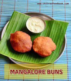 Mangalore buns recipe with coconut chutney - Karnataka special breakfast combo !
