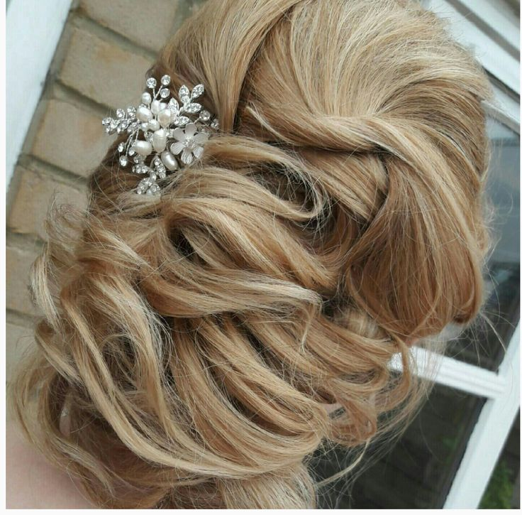 Twisted bridal hair style
