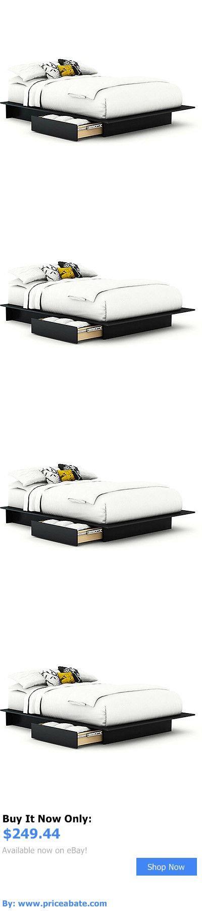 Bedding: Bed Bedroom Storage Platform Furniture Full Queen Size Mattress Set Frame BUY IT NOW ONLY: $249.44 #priceabateBedding OR #priceabate