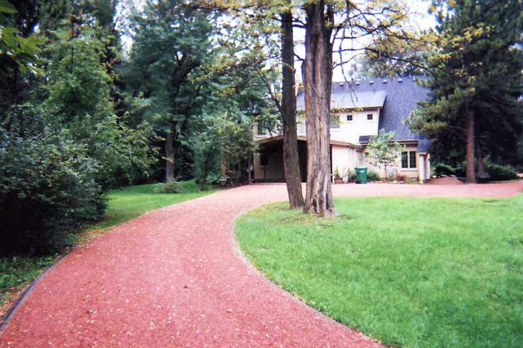 Red Granite Driveway : Best images about driveway lane french country on