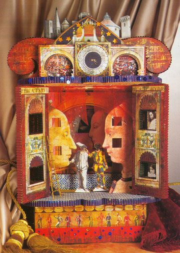 "Paper Theater  THe minute I saw this I said ""Lynne Perrella"" and sure enough it is. She has given her personal touch to  the idea of 'vintage paper theatre' and it's lovely."