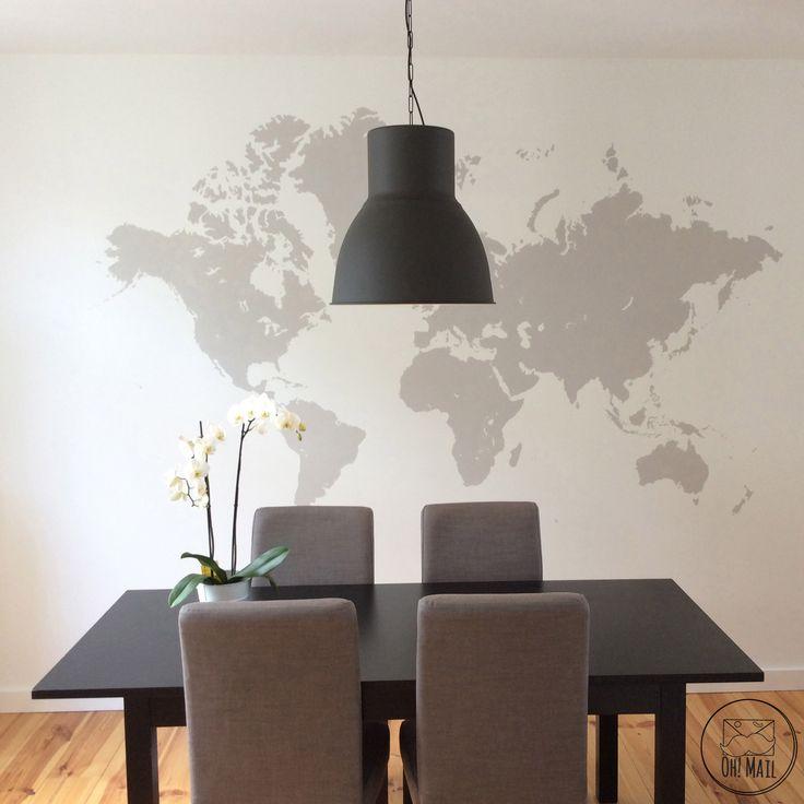 World map mural DIY tutorial