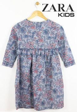 Rochie albastra pentru fete si fetite Zara Kids