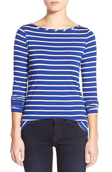 Amour Vert 'Francoise' Nautical Long Sleeve Top available at #Nordstrom