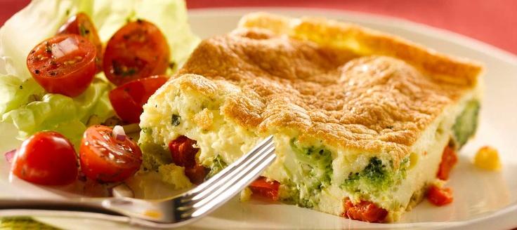 Frittata au brocoli et poivrons rouges - Recettes   Plaisirs laitiers - Nourrir votre quotidien