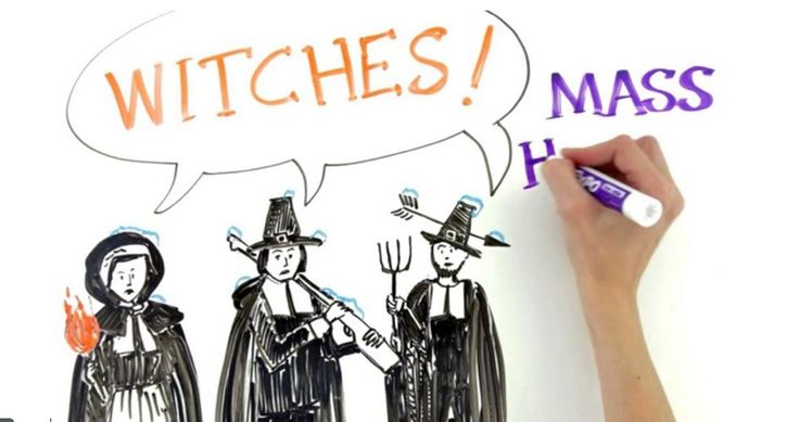 This whiteboard animation was produced for Scholastic's Action Magazine to present students with different theories about why the Salem mass hysteria happened. It is a clear and engaging animation that would work well to activate background knowledge or generate class questions. CCSS.ELA-LITERACY.RH.6-8.5 CCSS.ELA-LITERACY.RH.6-8.4