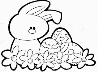 easter bunny drawing for kids