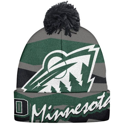Minnesota Wild Reebok Men's Face-Off Wrapped Logo Cuffed Knit Hat - Charcoal https://www.facebook.com/groups/crets4bets
