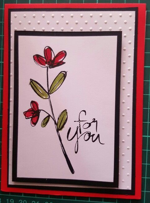 Made this at a stampin up party. Loved it so much I bought the stamp set