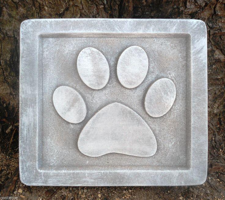 Details About Dog Paw Memorial Plastic Mold Concrete