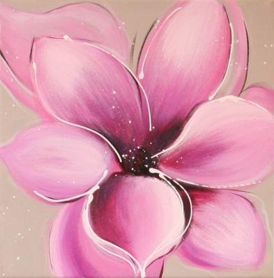 tableau peinture sur toile fleur excelsior 1 30x30cm peintures fleures pinterest tableau. Black Bedroom Furniture Sets. Home Design Ideas