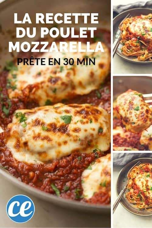 recette facile et pas chère de poulet à la mozzarella et à la sauce tomate