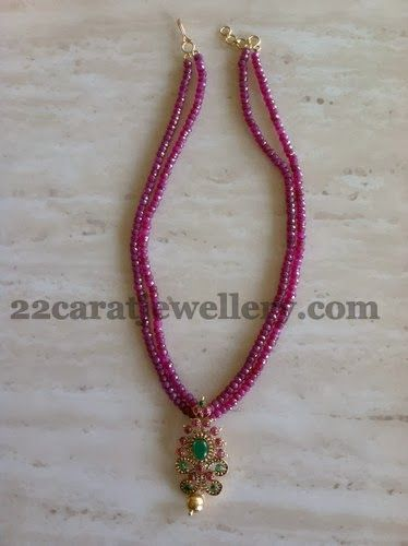 Jewellery Designs: Ruby Beads Set for Kids