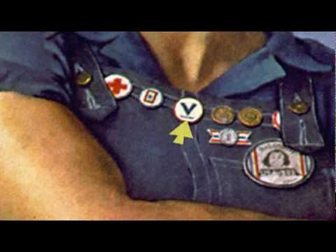 """Rosie the Riveter"" video from the Library of Congress, about the real-life Rosies, as well as the posters, song, and Norman Rockwell painting."