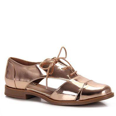 Sapato Oxford Feminino Brenda Lee - Cobre