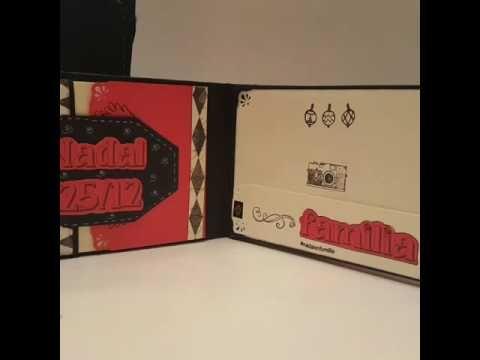 Hohoho..... hola os presento mi ultima creación: minialbum con caja sorp...