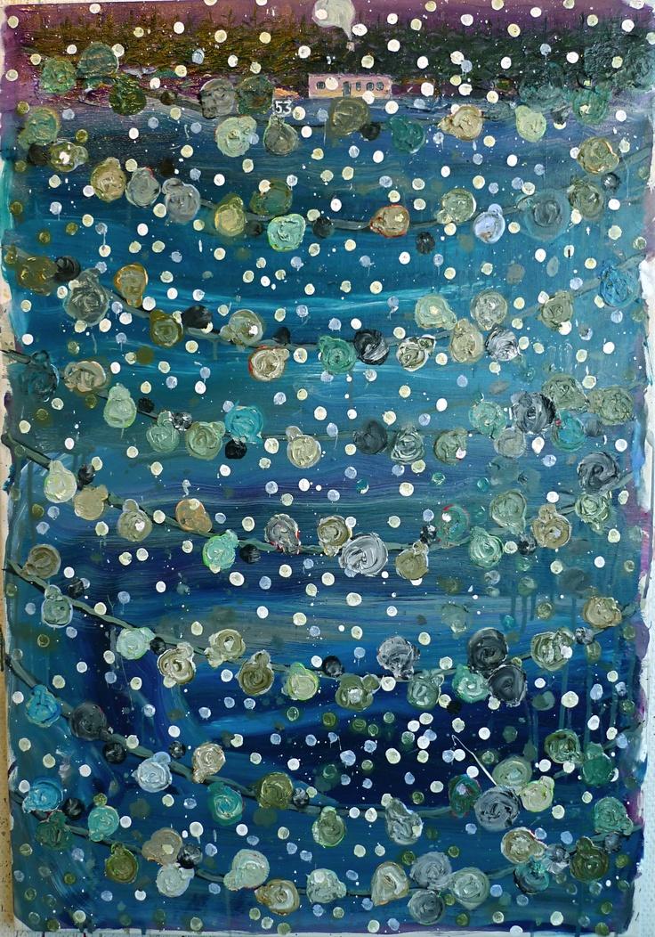Per Adolfsen, Snow, Oil and acrylic on canvas 2012, 87x60cm