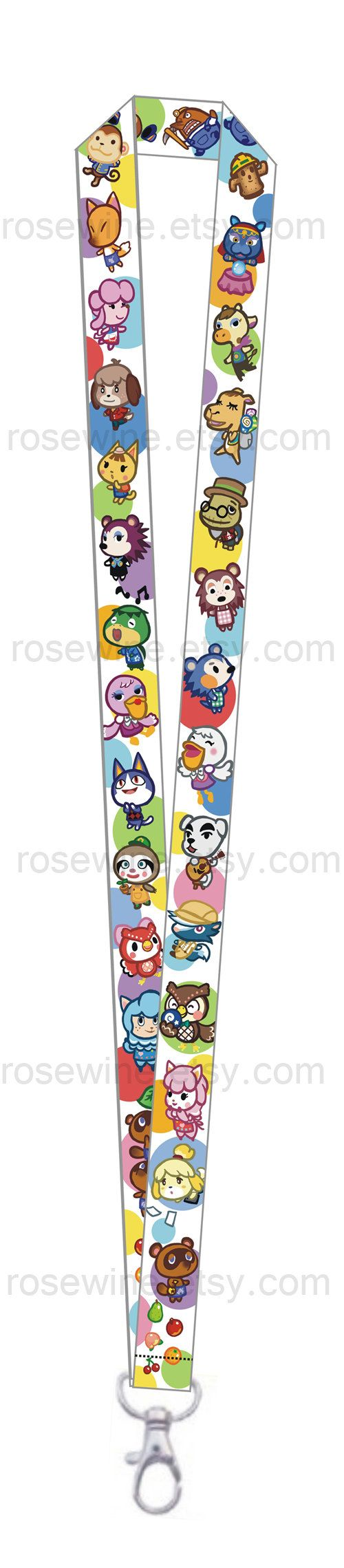 Animal Crossing New Leaf Lanyard... I grew up on this game... It was my favorite