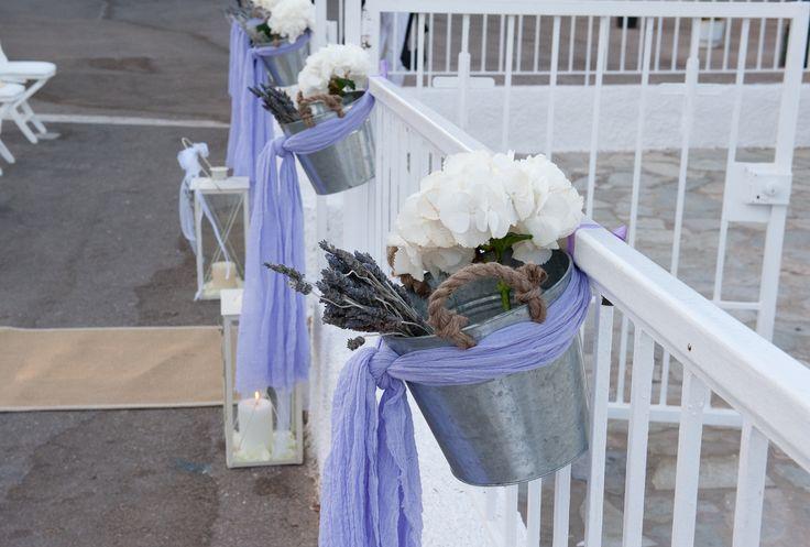 romantic wedding with white peonies,hyndrangea and levander