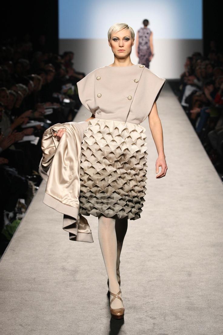 ORIGAMI POP UP   Outfit created by Olimpia Tiberia, fashion designer former student of Accademia di Costume e di Moda (2012)