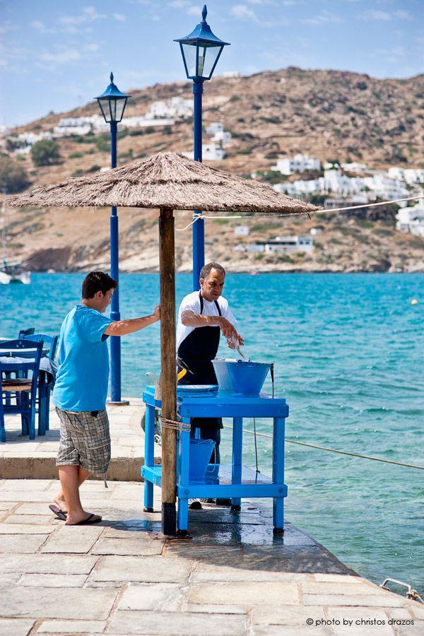 At Drakos' taverna | Ios island | Cyclades | greece