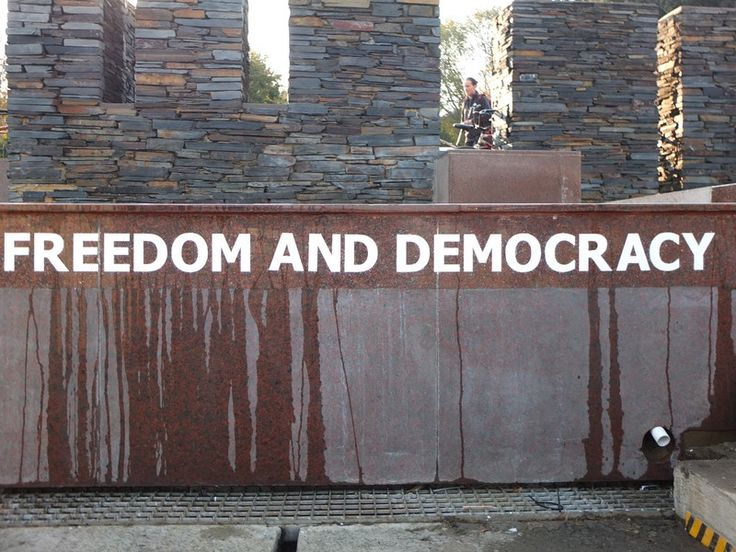 Freedom and Democracy - Soweto | One Footprint On The World, Somewhere, somehow, some way We must hold back the dawn While there's still time to try Keep the faith, keep the dream alive...