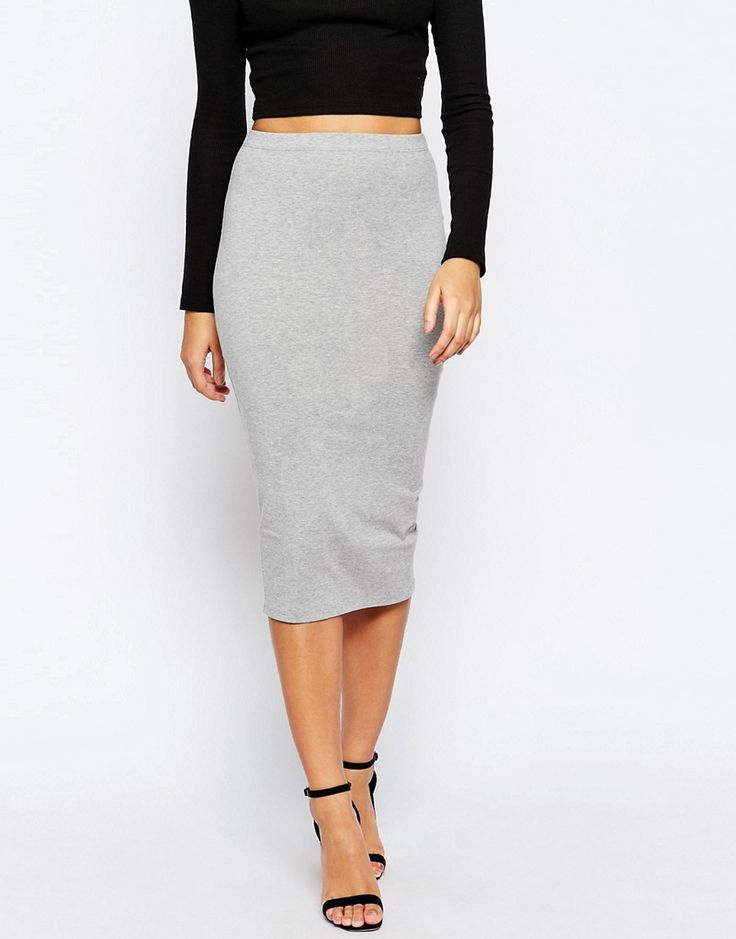 Image 4 of ASOS Midi Pencil Skirt in Jersey