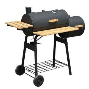 ackyard Charcoal BBQ Grill & Offset Smoker Combo With Wheels #Patio #Lawn #Garden #Grills #OutdoorCooking #Outdoor #Smokers
