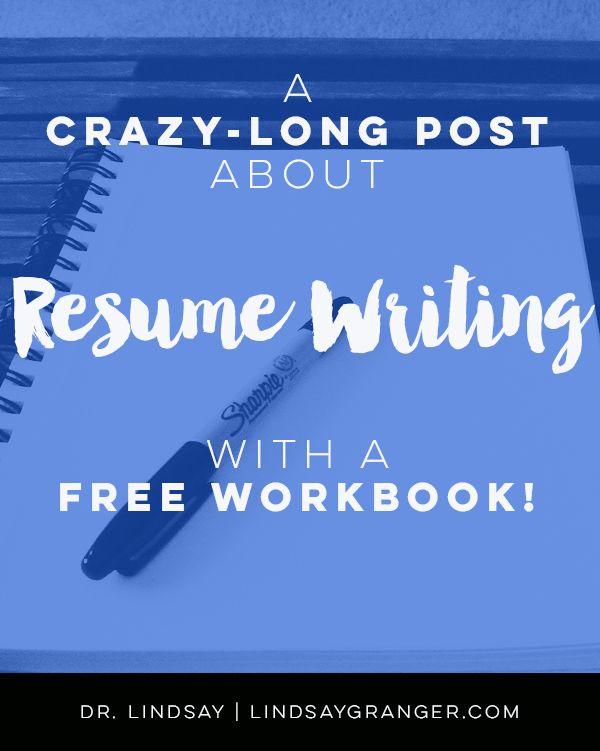A (Crazy Long) Post About Resume Writing