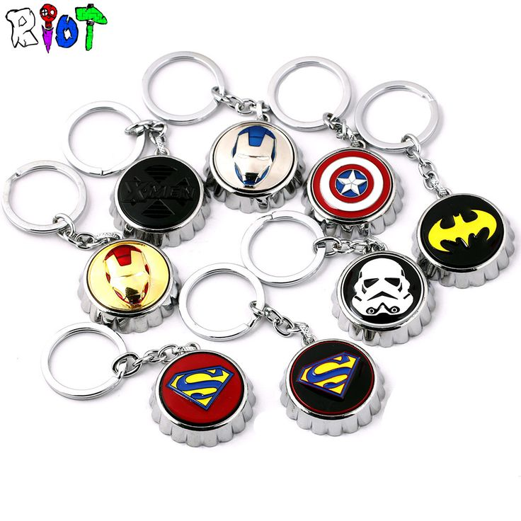 Hot movie series keychain creative bottle opener for Star Wars Captain America Iron Man superman Keyring pendant metal chaveiro