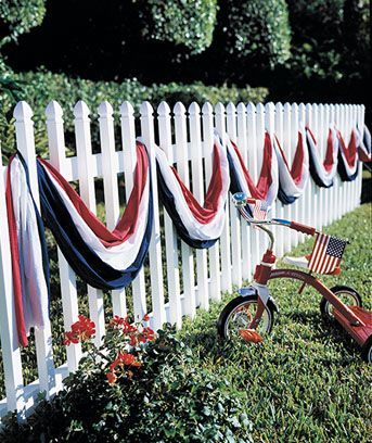 Patriotic casual bunting July 4th.  Decoration for  Independence Day