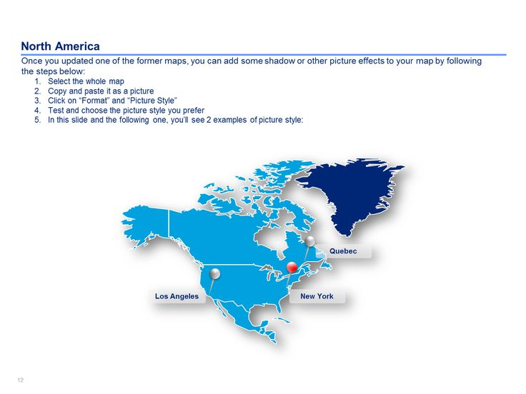 13 best images about powerpoint north america map templates on north america map templates toneelgroepblik Images