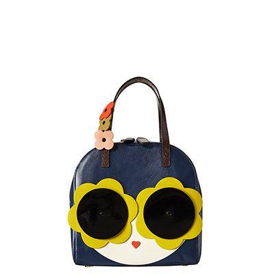 Orla Kiely | UK | Bags | Mainline Bags | Applique Face Lola Bag (17SBAPL561) | Navy