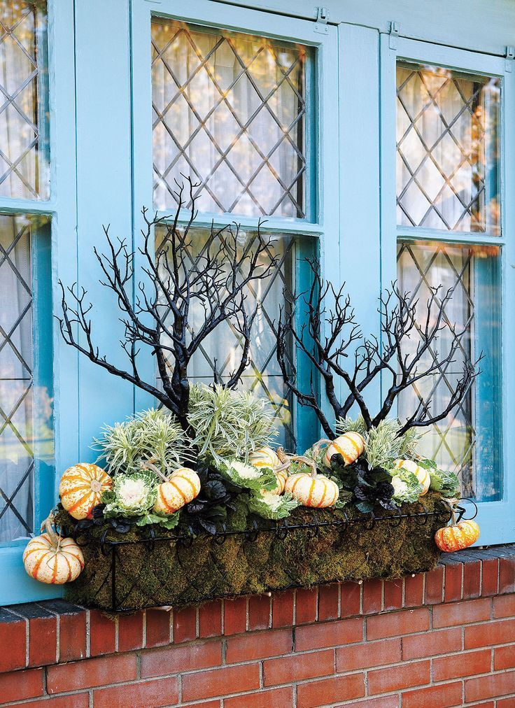 Fabulous Fall Containers • Great Tips and Ideas! Including, from 'canadian gardening', this one of a kind fall container with eerie branches.