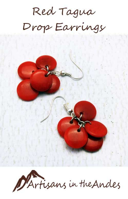 Show off your fun side with these playful beaded earrings. Made with organic red tagua from the Amazon rainforest, you will be wearing your own little piece of the jungle. The bright meaningful color will remind you to seek love and friendship wherever you go. #fairtrade #fairtradefashion #fairtradejewelry #fairtradegifts