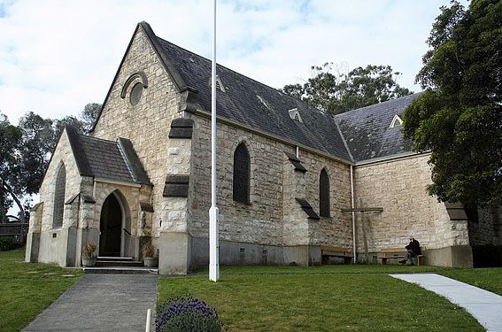 St Johns Anglican Church located on Point Nepean Road Sorrento Victoria.