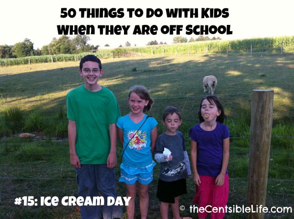 50 Things To Do With Kids When They Are Out of School--Ok, Maybe only #50 will apply to my kids, but worth keeping in case of emergency boredom this summer!