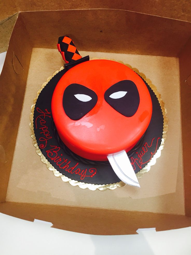 1000 Ideas About Deadpool Cake On Pinterest