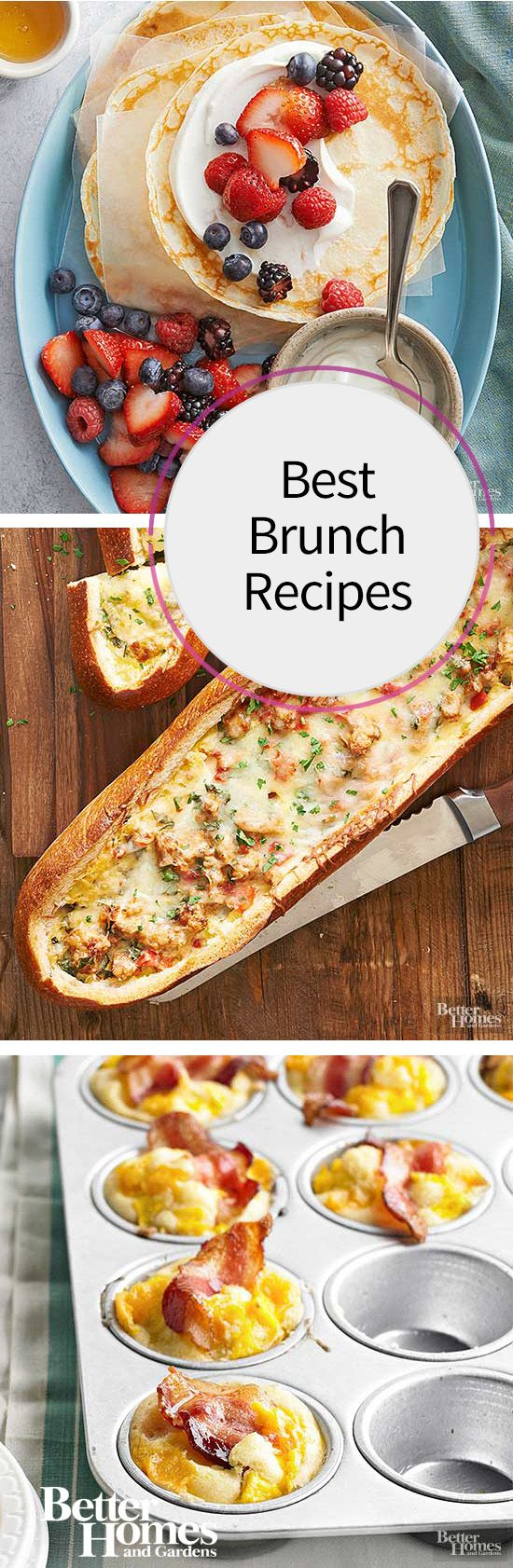 Whether you're planning a simple brunch for a small group or an Easter brunch to wow your crowd, we've got just the right brunch recipe ideas for you. Choose from sweet pancakes, savory breakfast sandwiches, hearty egg casser