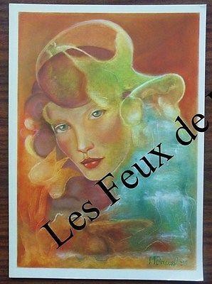 Carte postale Signe du zodiaque Verseau,Monique Bruel, 500 ex. CPSM