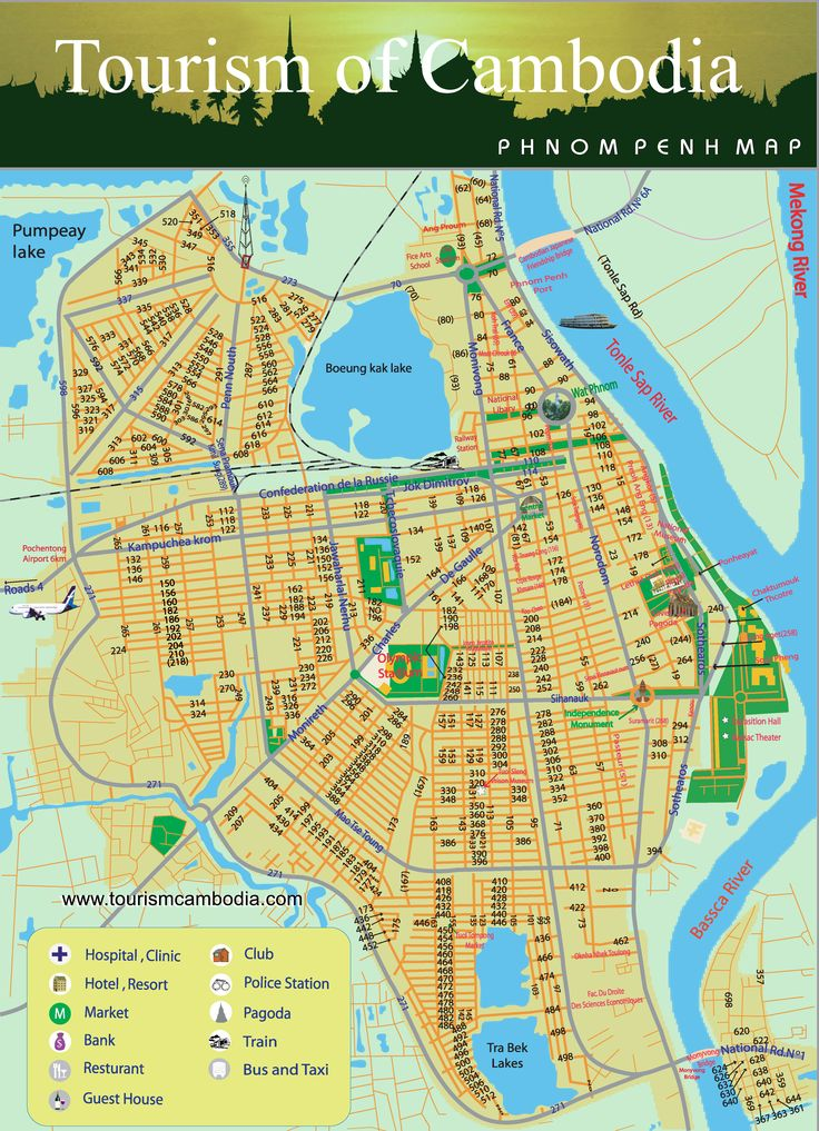 Phnom Penh Map
