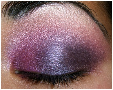 purple and lilac toned eyes