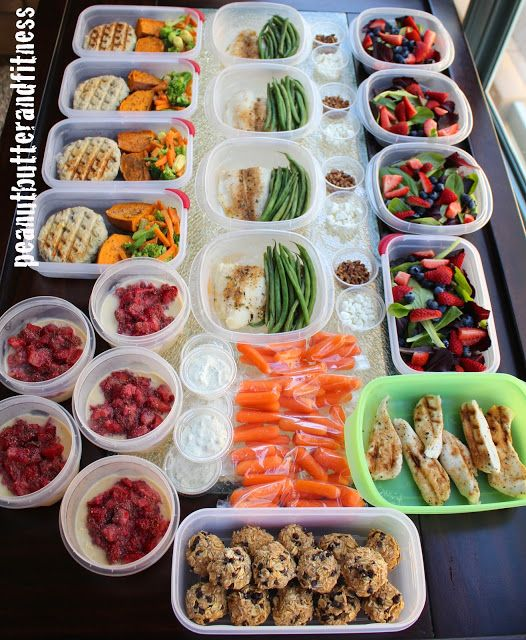 Meal Prep Monday - here are my meal prepping ideas for the week: + Turkey patties with baked sweet potato and mixed veggies. + Baked Swai with green beans, quinoa and mango salsa. + Summer berry chicken salad. + PB&J overnight oats. + Lots of snacks, including carrots and peanut butter energy bites. Full recipes and nutrition included. #MealPrepMonday