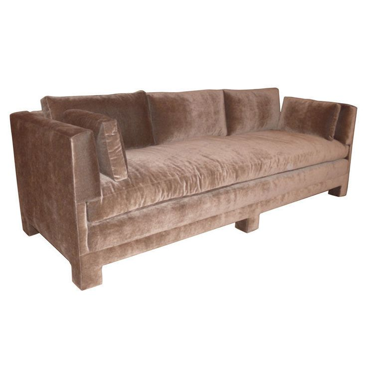 Billy Baldwin Style Plush Sofa Modern Sofa Antiques And