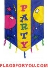 Party Streamers Applique Garden Flag